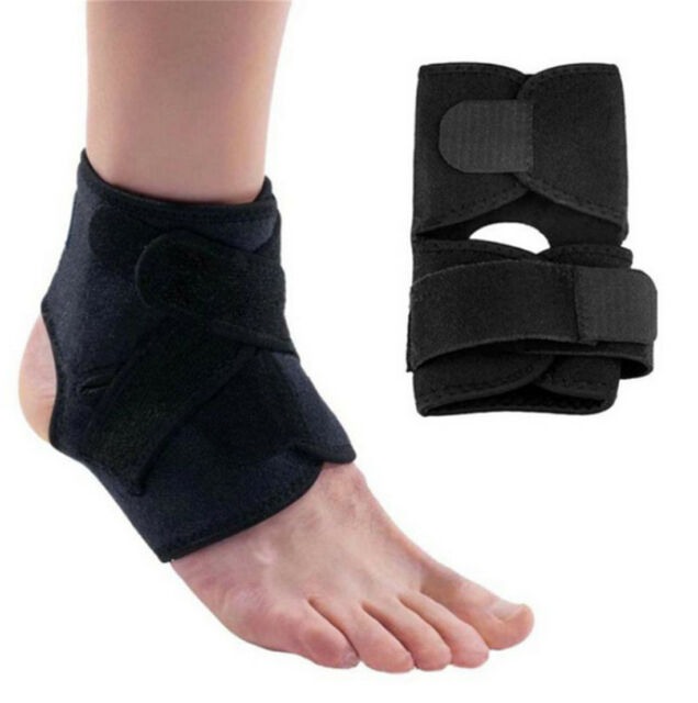 ANKLE BRACE SUPPORT Adjustable Compression Sports Stabilizer Elastic Foot Wrap G