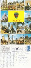 1985 MULTI VIEWS OF PARIS FRANCE COLOUR POSTCARD