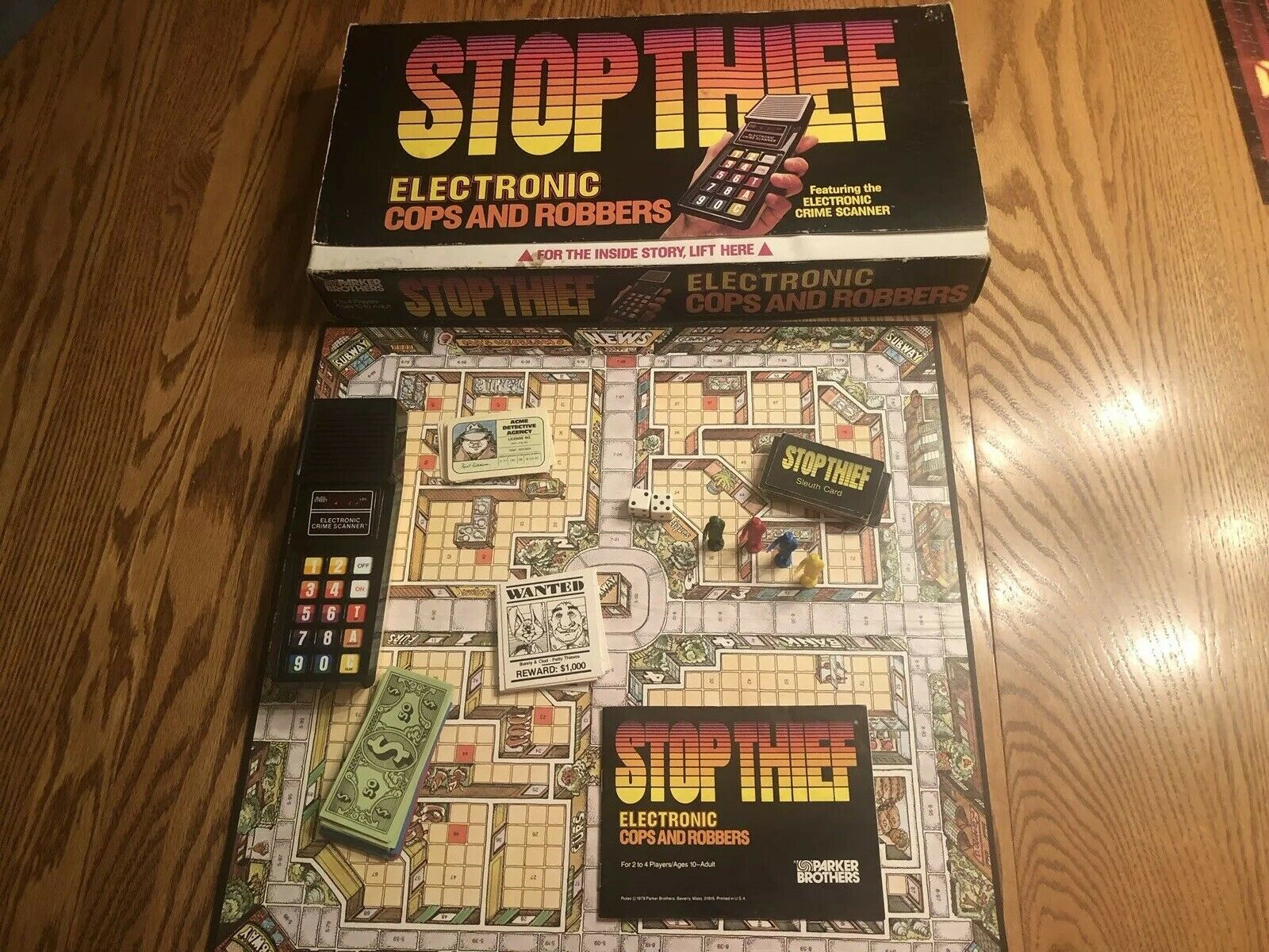 Stop Thief  Electronic Cops & Robbers Game 100% Complete - Excellent Tested