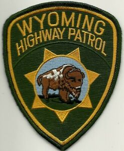 HIGHWAY PATROL * WYOMING * Staats-Polizei Abzeichen Patch State Police USA  WY