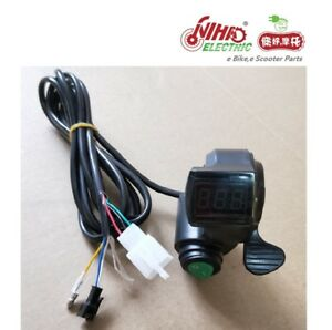 02 Thumb Throttle with LCD Digital Battery Voltage Display and Cruise e Bike
