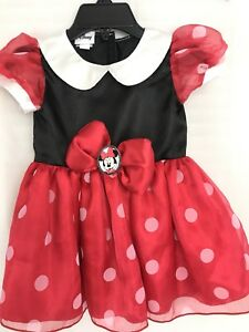 cff360ed07b1 Minnie Mouse Girls Polka Dot Red Dress Size 3-6 months Baby Girl ...