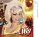 Ladies Blonde Behive Wig With Purple Headband Austin Powers Diva Disco  Fancy Dr