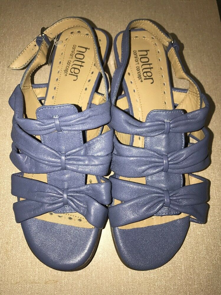 HOTTER Penelope bluee Low Heel Sandals bluee UK 6 EUR 39 STD Fit