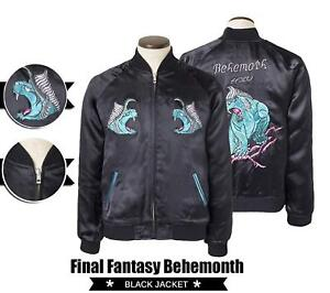 New Giacca Fantasy finta e Black Behemoth Xv Final pelle vera in Noctis qFqArx