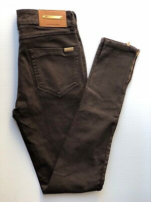ZARA Brown Skinny Jeans With Ankle Zips
