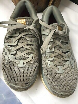 Saucony Triumph ISO 5 Womens Running Shoes Grey Cushioned Trainers Supination