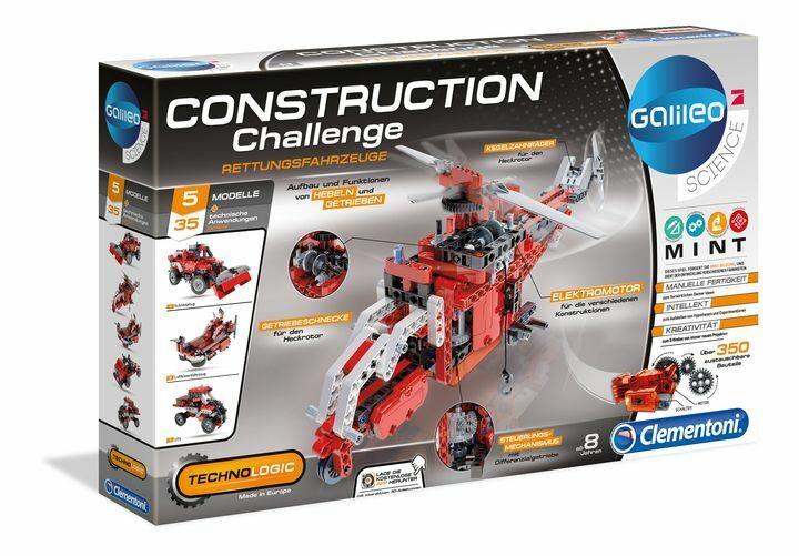 Construction Challenge - Rettungsfahrzeuge Clementoni (59052.0)