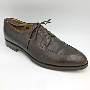Details about Gravati Italy made Brown Soft Leather Split Toe Oxfords Shoes Mens size 10.5M E2