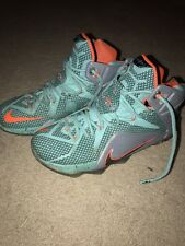 1143c2b1871a item 2 NIKE LEBRON JAMES XII The Twelve Size 8 SHOES orange gray turquoise  684593-301 -NIKE LEBRON JAMES XII The Twelve Size 8 SHOES orange gray  turquoise ...