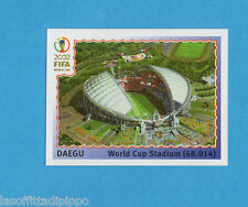 KOREA/JAPAN 2002-PANINI-Figurina n.7- DAEGU WORLD CUP STADIUM -NEW BLUE BACK