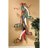 For The Love Of Shoes French Finesse Lady's Dressing High Heels Wall Sculpture