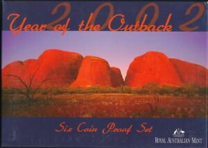 Australia-2002-Proof-Set-in-RAM-Pkg-Cat-120-RARE-Year-Of-The-Outback
