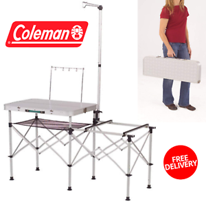 Portable Kitchen Coleman Folding For Easy Carrying With Food Prep Area For Camp