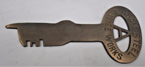 Adam Steel /& Iron Works FOLGER ADAM  Solid Brass JAIL CELL KEY