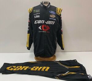 NASCAR-GoFas-Racing-Team-Issued-Race-Used-2-pc-Fire-Suit-SFI-3-2A-5-C52-W38-I33