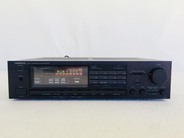 VINTAGE Onkyo TX-82 AC120V 60Hz 2.6A Quartz Synthesized Tuner Amplifier System