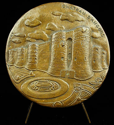 Bescheiden Médaille 247g Castle Château Ville D'angers Des Ducs D'anjou Par Coutre Medal