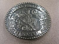 1984 Vintage Hesston National Finals Rodeo Belt Buckle Free Shipping