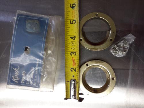 """1 3//8/"""" inch Kirsch Closet Rod Sockets ROUND ROBBING steel brass pole coat holder"""