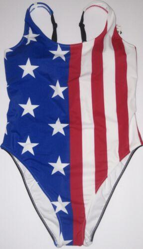 NWT VICTORIA/'S SECRET PINK FLAG AMERICA PATRIOTIC STAR STRIPE ONE PIECE SWIMSUIT