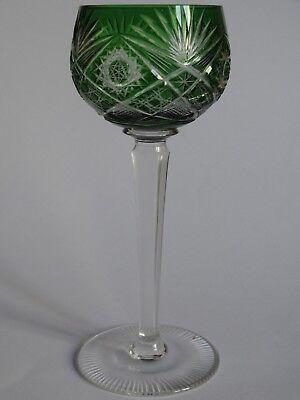 1 ANCIEN VERRE A VIN ROUGE ROEMER EN CRISTAL COULEUR VERT EMERAUDE ht 19,5 cm | eBay