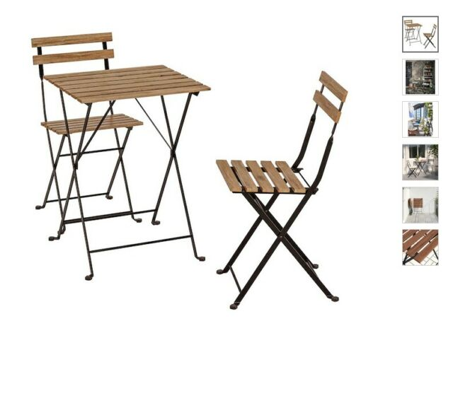 Ikea Sedie Pieghevoli Giardino.Ikea Tavolo Da Giardino Parete 2 Sedia Pieghevole Cuscino Mobili