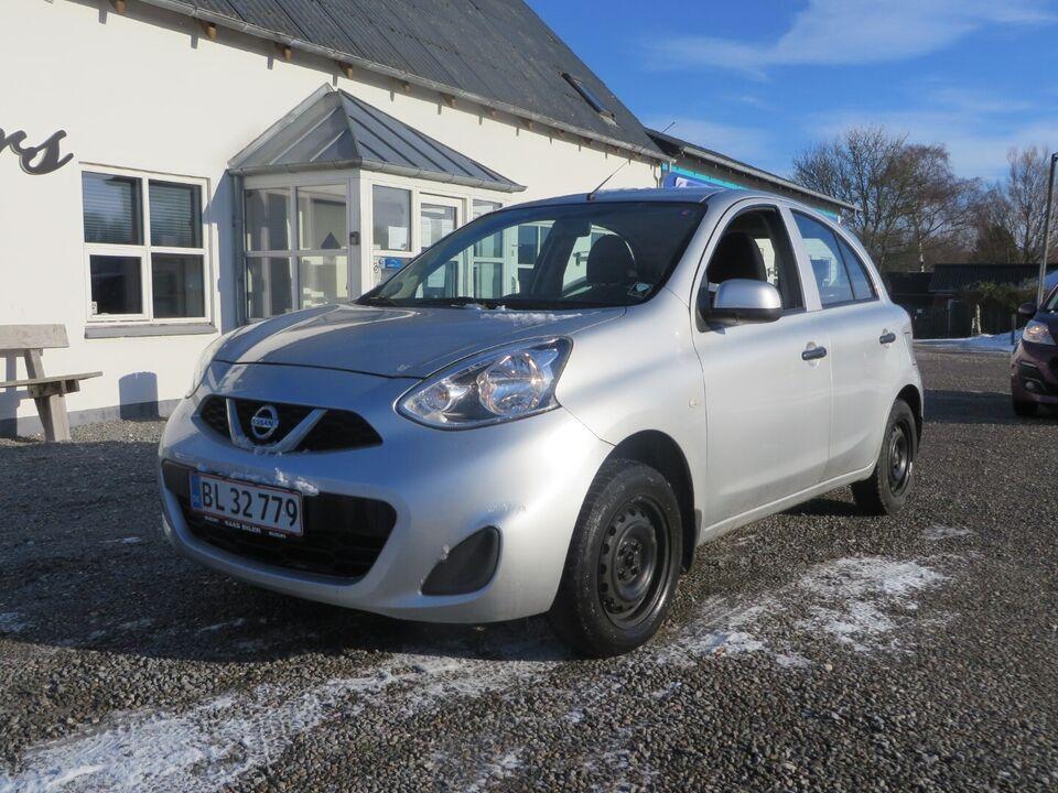 Nissan Micra 1,2 Visia Benzin modelår 2017 km 64000
