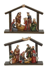 Jesus Christmas Decorations.Details About Christmas Nativity Scene With Mary Joseph Baby Jesus Christmas Decoration