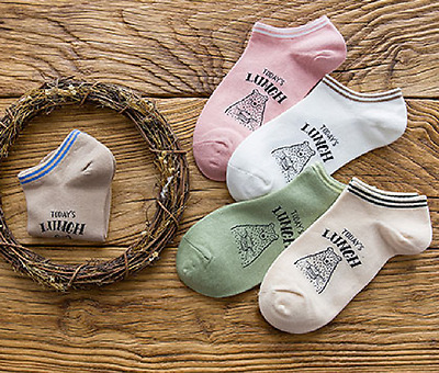 Low Cut 1 Pair Ladies Boat Short Cotton New Women Ankle Summer Socks Gift Cartoo
