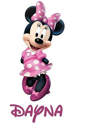 ***GREAT DISNEY MINNIE MOUSE*** PERSONALIZED****FABRIC/T-SHIRT IRON ON TRANSFER