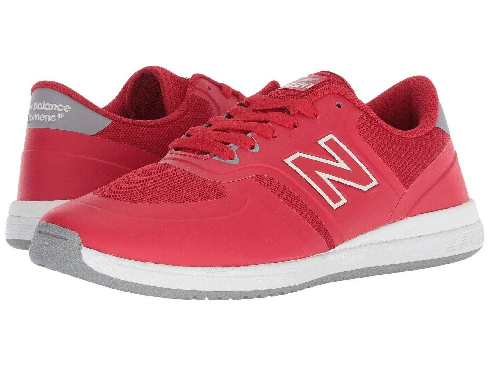MENS NEW BALANCE NUMERIC 420 SKATEBOARDING SHOES RED WHITE  (RED)