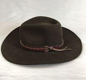 vintage bailey firehole cowboy hat brown lite felt size S 100% Wool ... edc10af085d