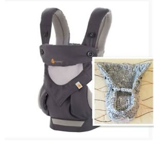 Ergo-360-Four-Position-carrier-baby-gray-Infant-Insert-New-box