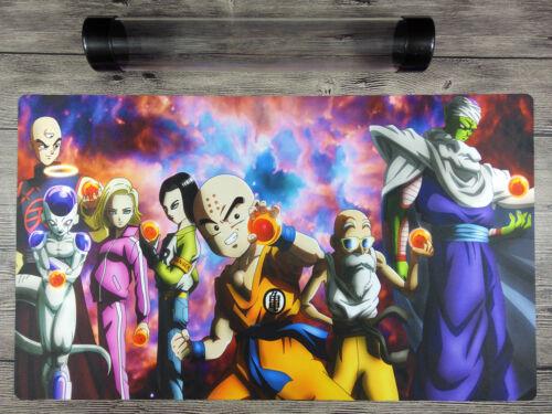 Dragon Ball Fighter Z Super Custom playmat YuGiOh TCG Mat Free High Quality Tube