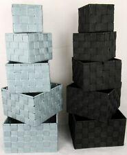 4-teiliges Set Ablagekorb Aufbewahrungskorb Bad Küche Regalkörbe Korb universal