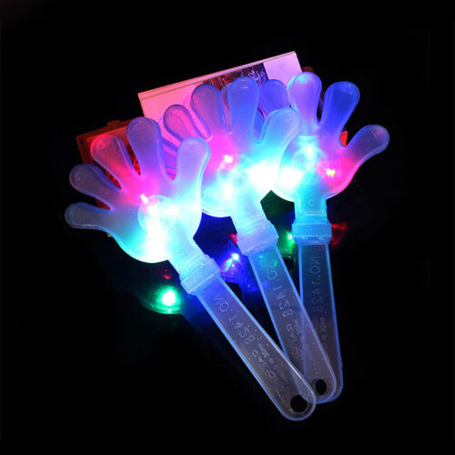 PALM LIGHT UP GLOW STICK BIRTHDAY PARTY CONCERT WAND ROD CHEER PROP TOY FADDISH