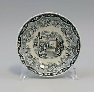 99845547-Ceramics-Small-Bowl-Plate-19-Jh-Historicism-Kupferumdruckdekor