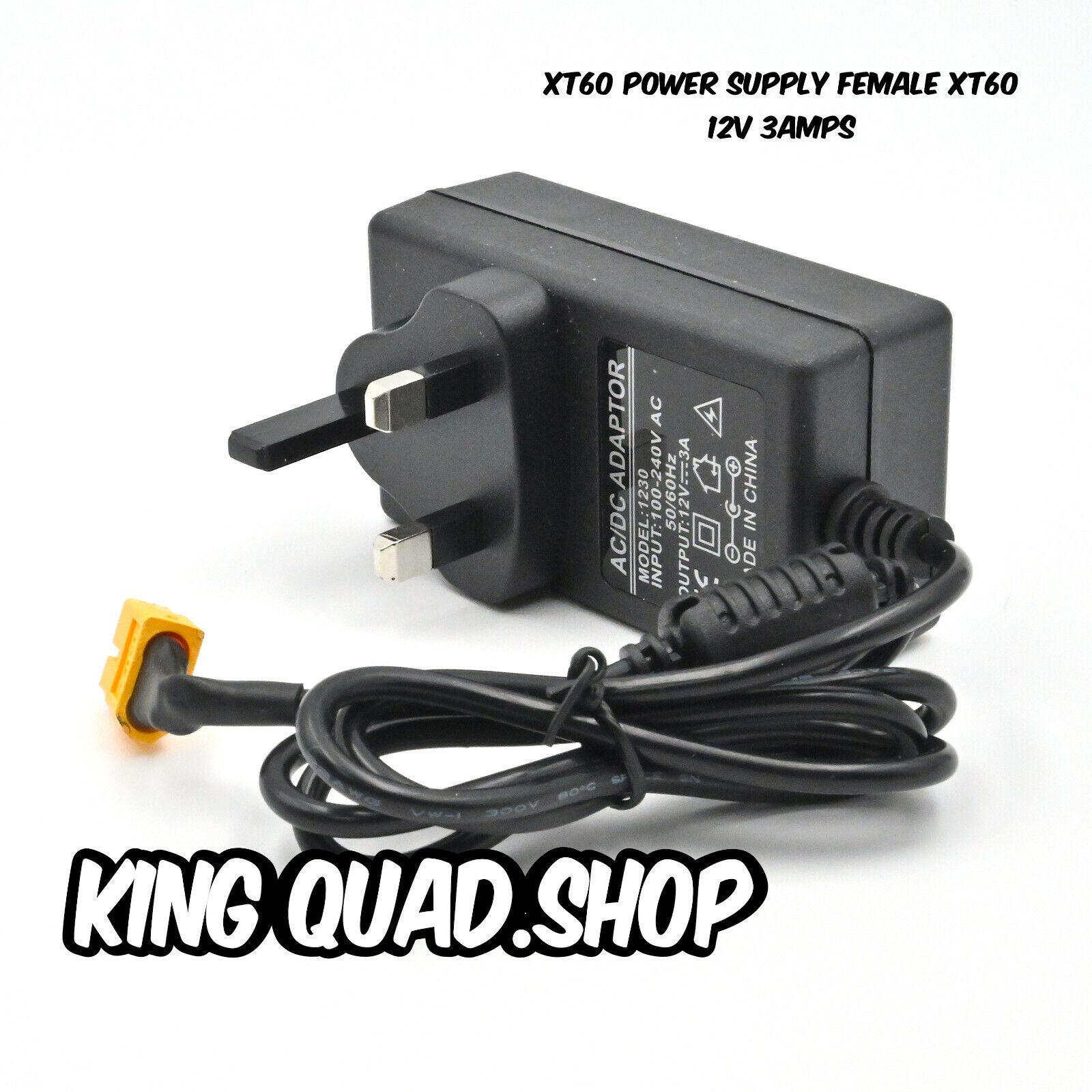 XT60 Power Supply for ISDT Charger with UK Plug (Female XT60)