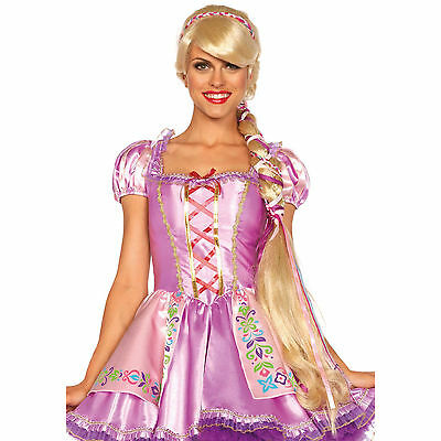 Princess Rapunzel Wig Halloween Costume Long Braid Blonde Tangled Disney Cosplay