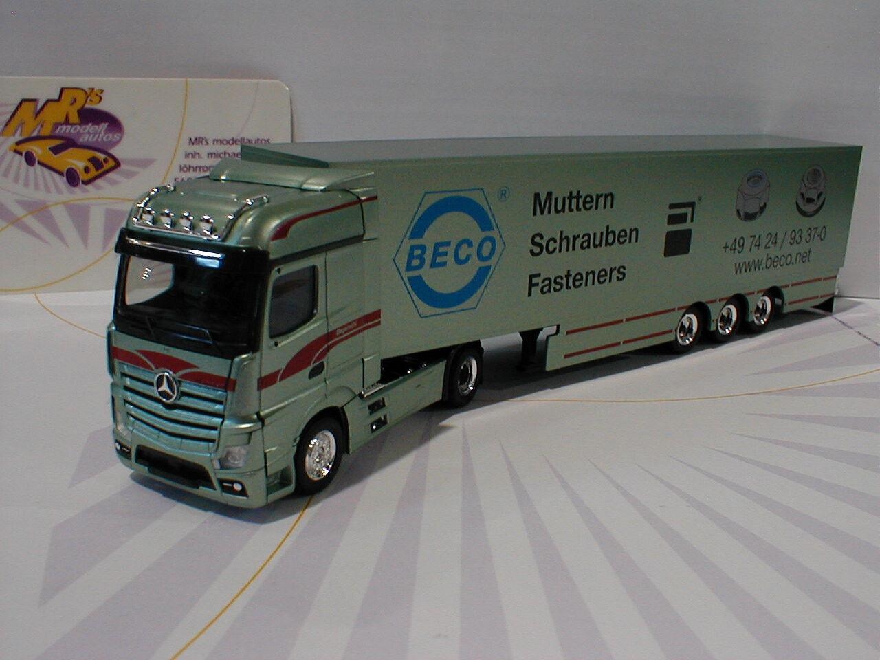 Herpa 307055  Mercedes-Benz Actros Bigspace Koffer-Sattelzug  Bagemühl  1 87