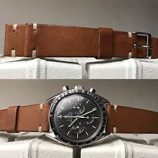 20 mm Natural Brown Leather Strap Band Bracelet cinturino for vintage watch gmt