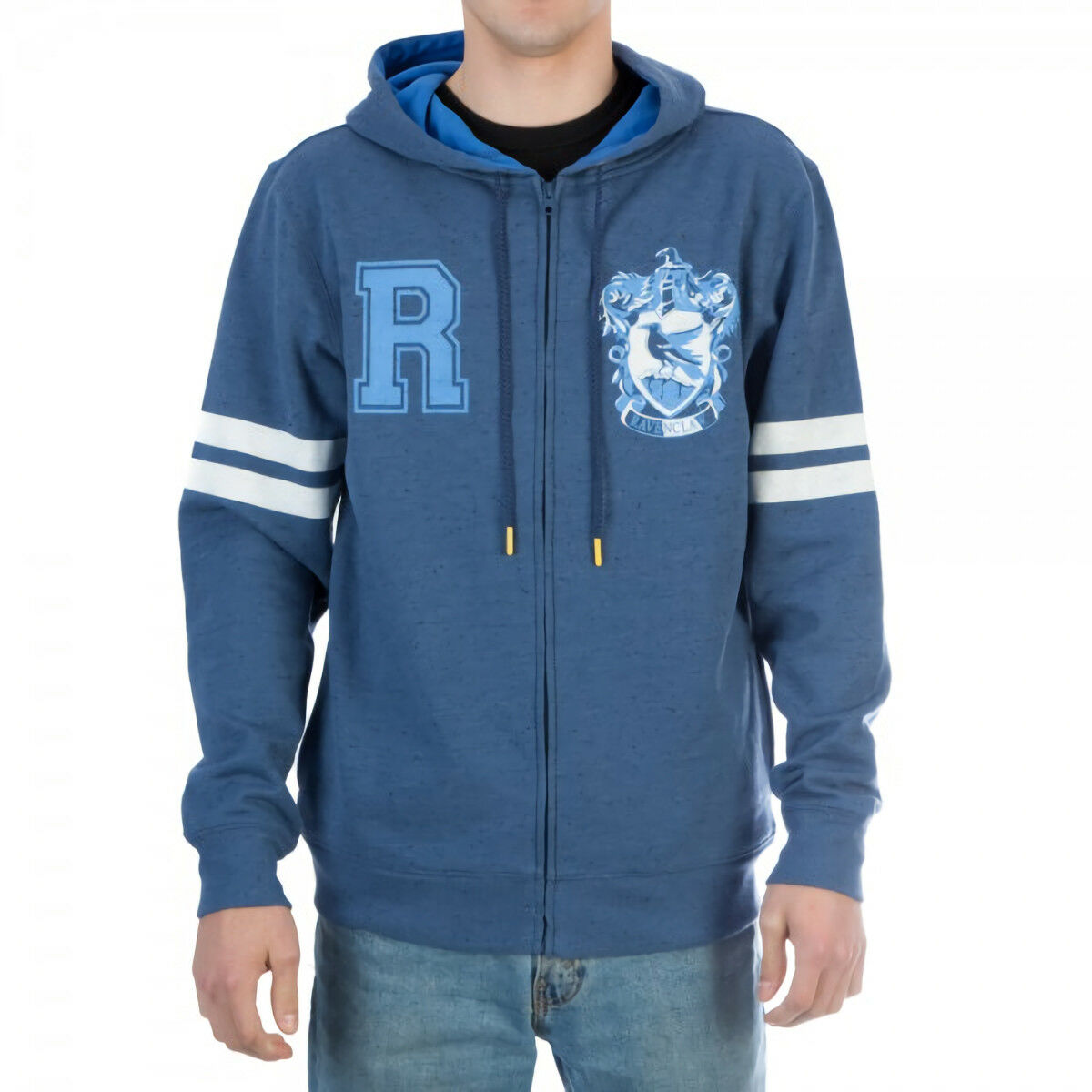 Harry potter ravenclaw - symbol zip up kapuzenpulli sweatshirt