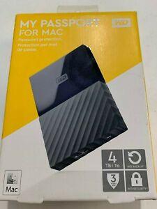 WDBP6A0040BBK WD My Passport for MAC 4TB External USB 3.0 Portable Hard Drive