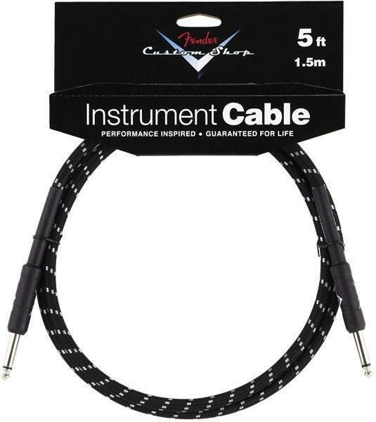"""New Fender 6/"""" Right Angle Guitar Effect Patch Cable Black"""