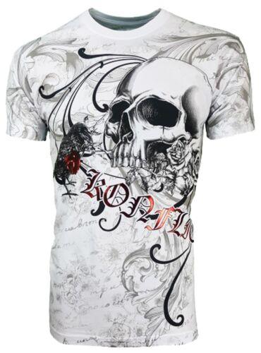 corbeau Konflic de tatouage Bikini Biker crâne Tee shirt de Biker encre qwBHwEA