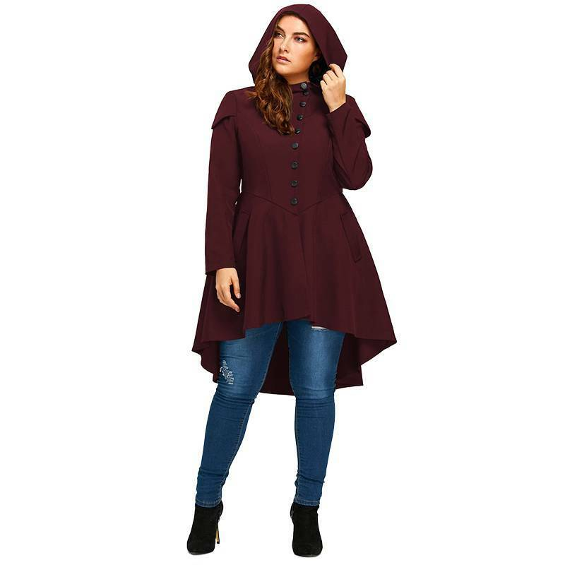 Women Oversized Long Sleeve Hooded Hooded Hooded Hoodie Loose Tops Jumper Winter Coat Tops US ae22b5