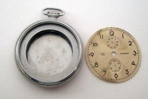 Rare CASE and DIAL Molnia Poljot Pocket Watch Chronograph Molnija