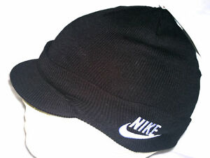 505efb4da65 Nike Child Unisex Peak Beanie Hat 340697 010 Black Size M L ...