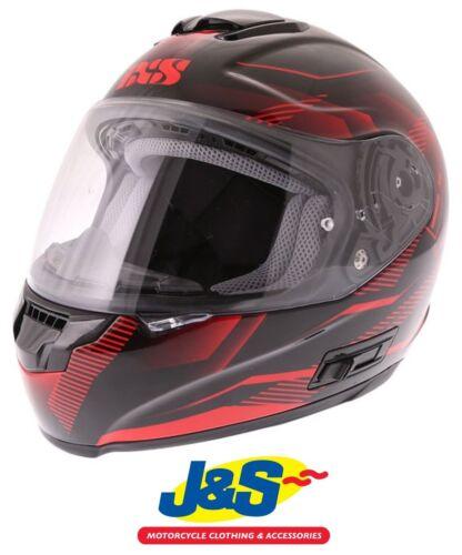 IXS HX 215 Cristal Black Red Motorcycle Helmet Motorbike Full Face Racing J/&S